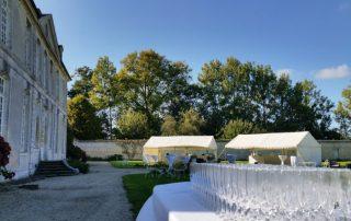 Mariage espace exterieur chateau